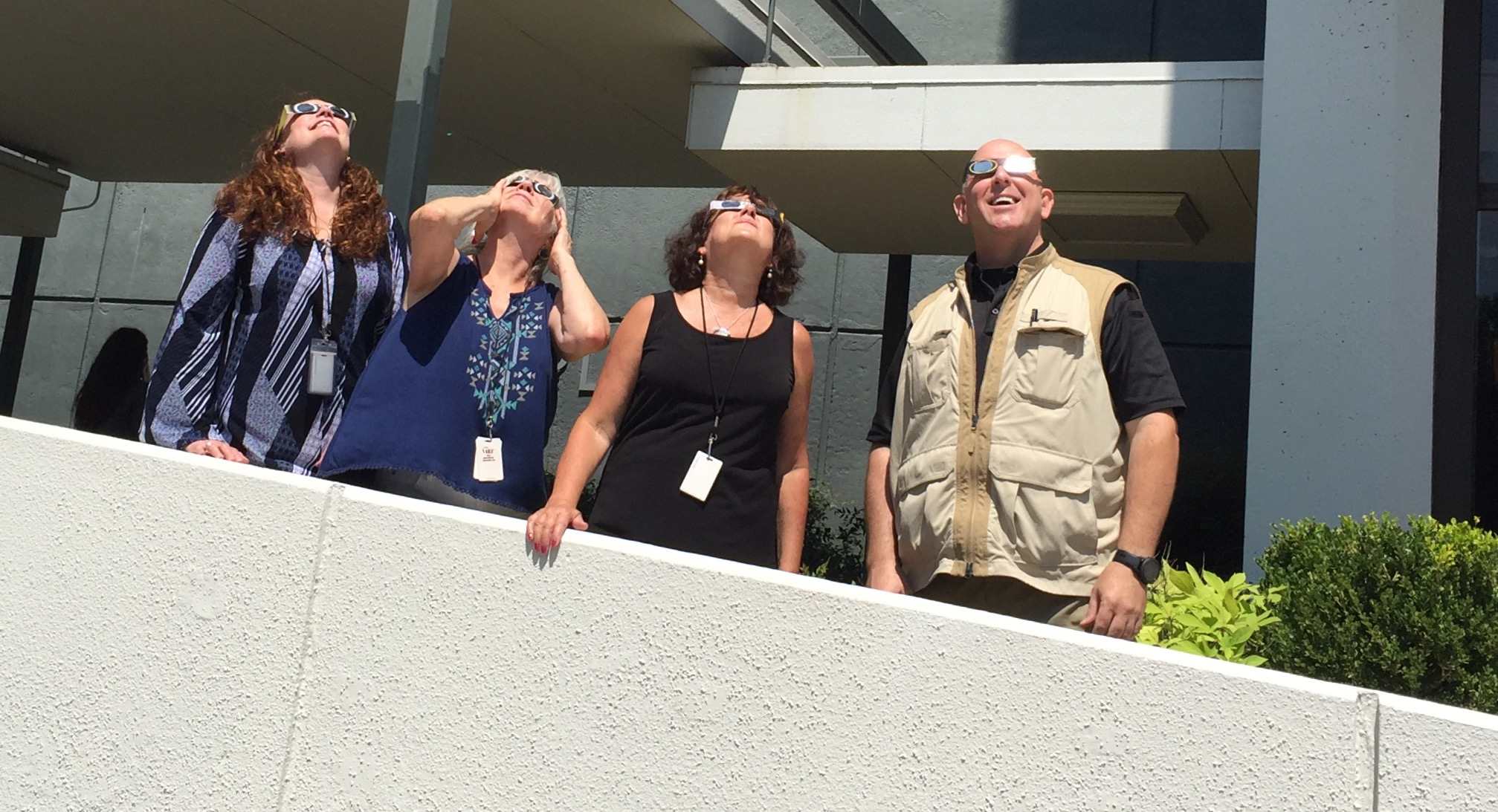 LCM-WCI Employees gather to view the Eclipse-1